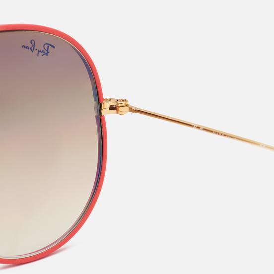 Солнцезащитные очки Ray-Ban Aviator Full Color Legend Polished Red/Light Brown