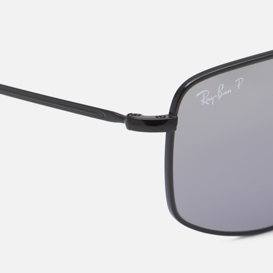 Солнцезащитные очки Ray-Ban RB3666 Polished Black/Silver
