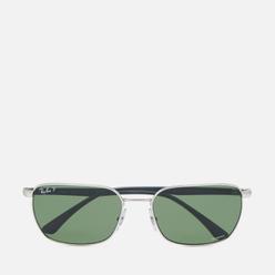 Солнцезащитные очки Ray-Ban RB3684CH Polarized Silver/Polar Dark Green