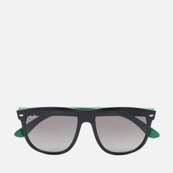 Солнцезащитные очки Ray-Ban Boyfriend Matte Black/On Green/Grey Gradient
