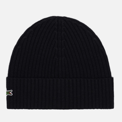 Шапка Lacoste Ribbed Wool Black