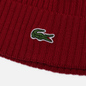 Шапка Lacoste Ribbed Wool Bordeaux фото - 1