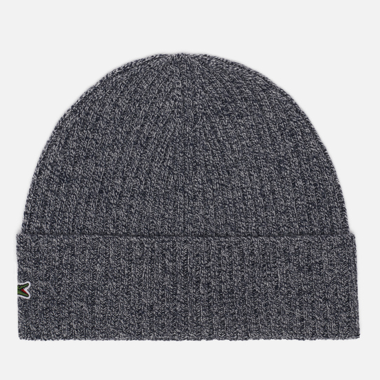 Шапка Lacoste Ribbed Wool Grey Chine