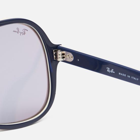 Солнцезащитные очки Ray-Ban Powderhorn Evolve Light Brown Creamy Blue/Photo Dark Grey Mirror Gold