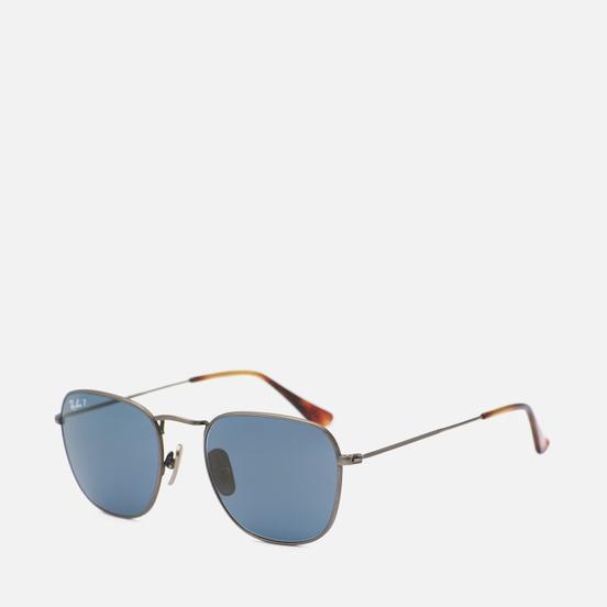 Солнцезащитные очки Ray-Ban Frank Titanium Polarized Polished Gunmetal/Blue