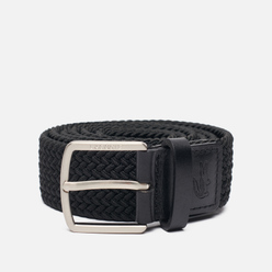 Ремень Lacoste Engraved Buckle Stretch Knitted Black