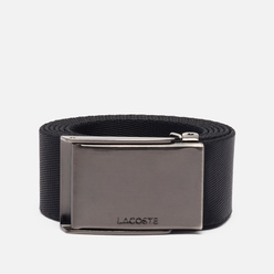 Ремень Lacoste Engraved Plate Buckle Black