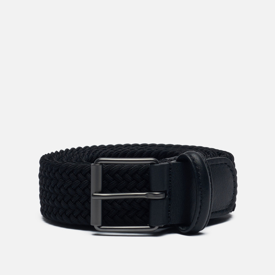 Ремень Anderson's Narrow Elastic Woven Stretch Black