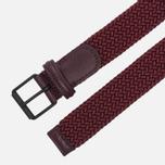 Ремень Anderson's Braided Woven Textile Mono Burgundy фото- 1