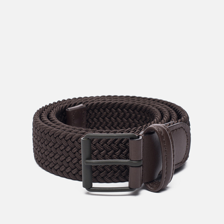 Ремень Anderson's Braided Woven Textile Mono Dark Brown