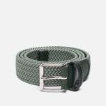 Ремень Anderson's Braided Woven Textile Mono Green фото- 0