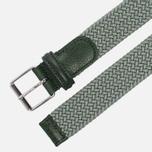Ремень Anderson's Braided Woven Textile Mono Green фото- 1