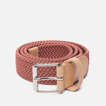 Ремень Anderson's Braided Woven Textile Mono Light Pink