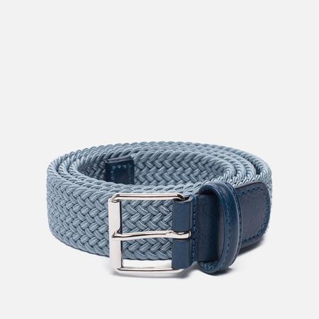 Ремень Anderson's Braided Woven Textile Mono Blue