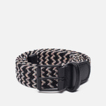 Ремень Anderson's Braided Woven Textile Multicolor Grey/Navy/Blue фото- 0