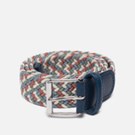 Ремень Anderson's Braided Woven Textile Multicolor Navy/Red фото- 0