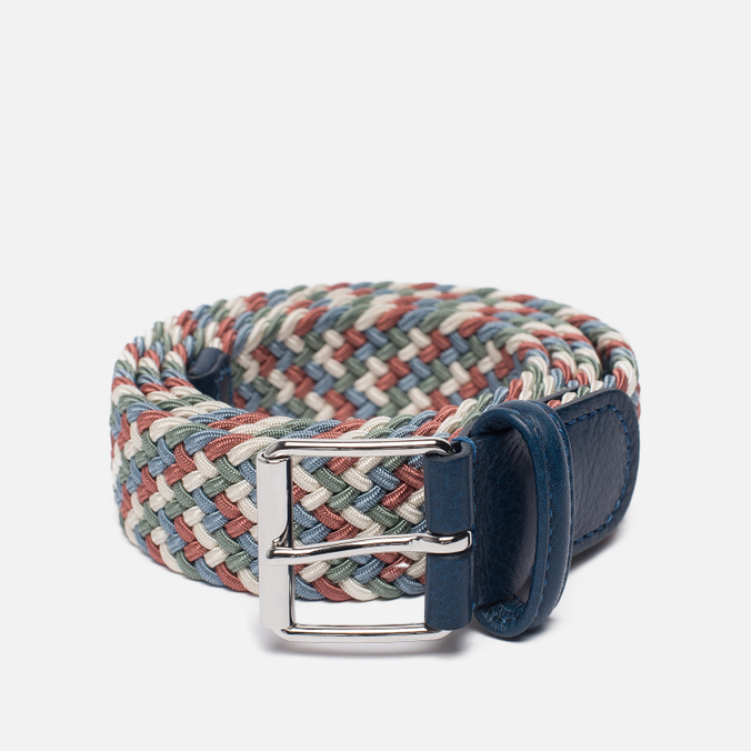 Ремень Anderson's Braided Woven Textile Multicolor Navy/Red
