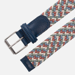 Ремень Anderson's Braided Woven Textile Multicolor Navy/Red фото- 1