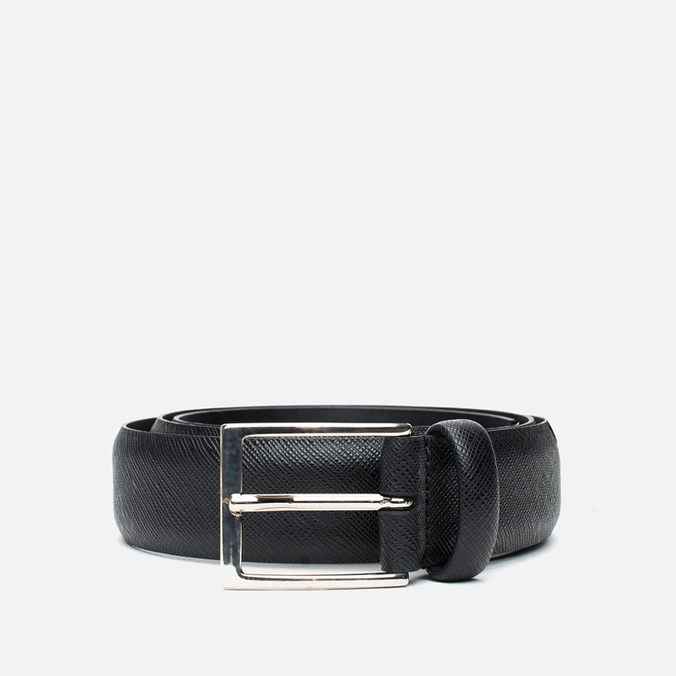 Ремень Anderson's Classic Calf Leather Texture Black