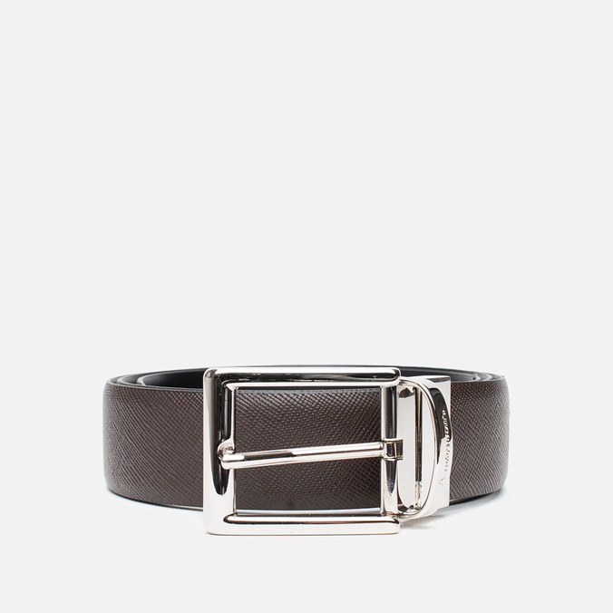 Anderson's Classic Calf Leather Texture Belt Brown