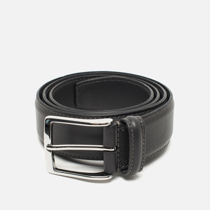Anderson's Classic Leather Belt Grey