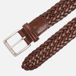 Ремень Anderson's Classic Woven Calf Leather Brown фото- 1