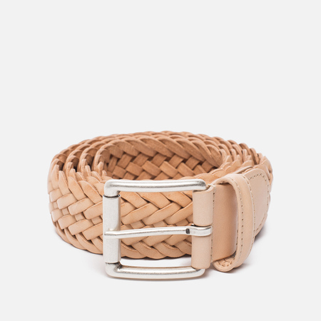 Ремень Anderson's Classic Woven Calf Leather Natural