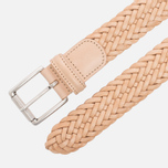 Ремень Anderson's Classic Woven Calf Leather Natural фото- 1