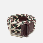 Ремень Anderson's Classic Woven Laminated Textile Multicolor Burgundy/White/Green фото- 0