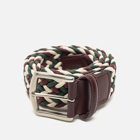Ремень Anderson's Classic Woven Laminated Textile Multicolor Burgundy/White/Green