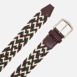 Ремень Anderson's Classic Woven Laminated Textile Multicolor Burgundy/White/Green фото- 1