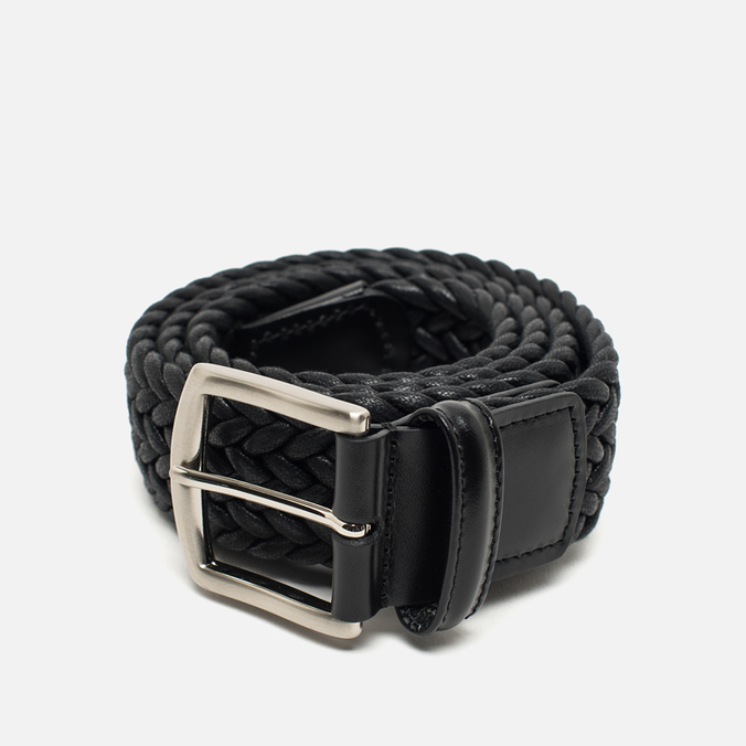 Anderson's Classic Woven Laminated Textile Belt Navy