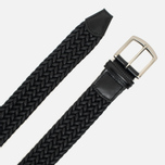 Anderson's Classic Woven Laminated Textile Belt Navy photo- 1