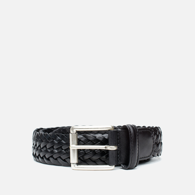 Ремень Anderson's Classic Woven Leather Black
