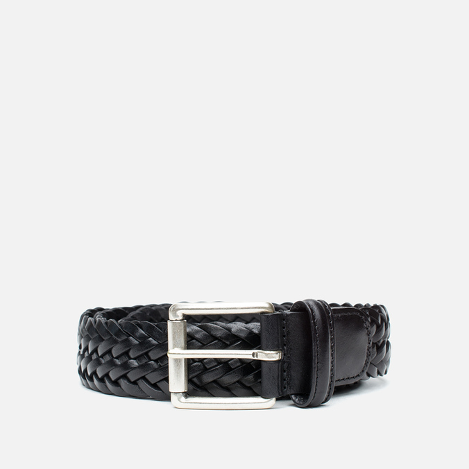 Anderson's Classic Woven Leather Men's Belt Black