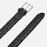 Anderson's Classic Woven Leather Men's Belt Black photo- 1