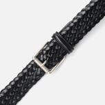 Anderson's Classic Woven Leather Men's Belt Black photo- 2