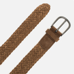 Anderson's Classic Woven Leather Suede Belt Brown photo- 1