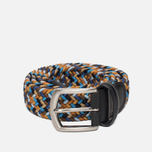 Ремень Anderson's Classic Woven Multicolor Blue/Brown/Gold фото- 0