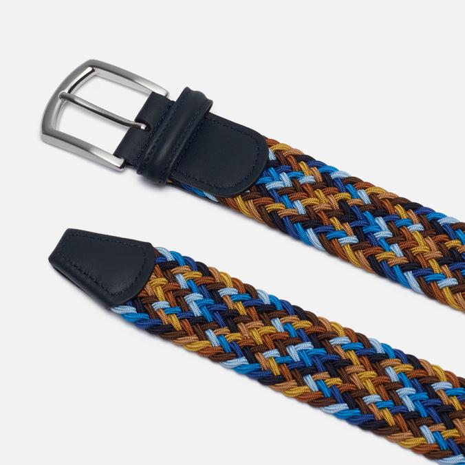 Anderson's Classic Wowen Multicolor Belt Blue/Brown/Gold