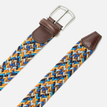 Ремень Anderson's Classic Woven Multicolor Blue/Brown/Gold фото- 1