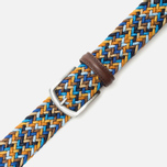 Ремень Anderson's Classic Woven Multicolor Blue/Brown/Gold фото- 2