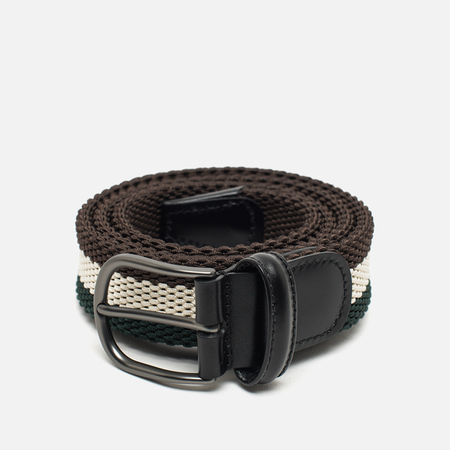 Anderson's Classic Woven Multicolor Belt Brown/Beige/Green