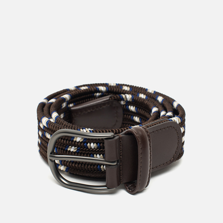 Anderson's Classic Wowen Multicolor Belt Brown/Blue/Silver