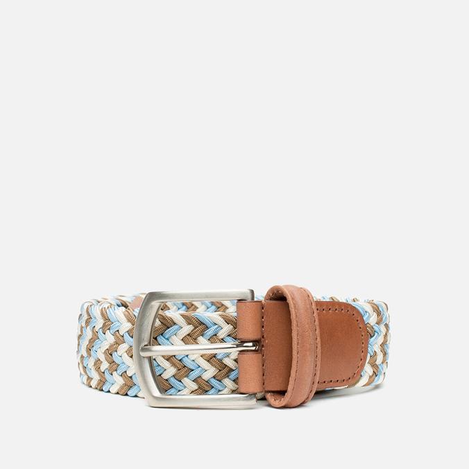 Anderson's Classic Wowen Multicolor Belt Brown/Blue/White