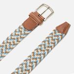 Anderson's Classic Wowen Multicolor Belt Brown/Blue/White photo- 1