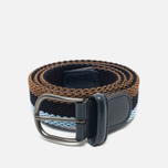Ремень Anderson's Striped Woven Textile Multicolor Brown/Navy/Blue фото- 0