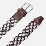 Ремень Anderson's Classic Woven Multicolor Navy/Brown/White фото- 1
