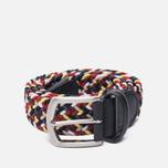 Ремень Anderson's Classic Woven Textile Multicolor Navy/Burgundy/White фото- 0