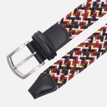 Ремень Anderson's Classic Woven Textile Multicolor Navy/Burgundy/White фото- 1
